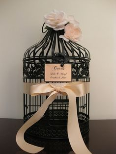 Black bird cage- perfect for wedding cards
