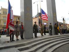 """Thank You America"" monument in Pilsen, Czech Republic"