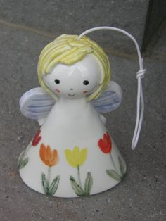 Ceramic Angel BellCeramic BellAngel with by TatjanaCeramics