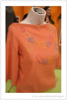 """Embroidered """"Bejeweled"""" Shirt Project From Sublime Stitching"""