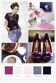 Color Pallet: Fuchsia, Putty, Peony, Lavender, Ink