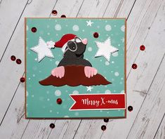 Christmas Accessories, 52 Weeks, Christmas Cards, Christmas Ornaments, Marianne Design, Mole, Kittens, Merry, Van