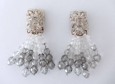 Coppola e Toppo Crystal Drop Earrings, 1960s | From a unique collection of vintage drop earrings at https://www.1stdibs.com/jewelry/earrings/drop-earrings/