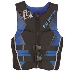 Other Swimwear and Safety 159150: Full Throttle 142500-500-050-15 Mens Hinged Rapid-Dry Life Vest Blue X-Large -> BUY IT NOW ONLY: $62.16 on eBay!