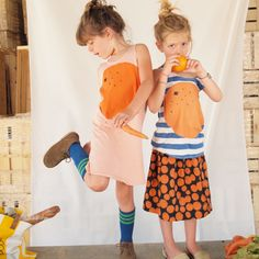 Bobo Choses at Loja Dada orange & polka dot outfit