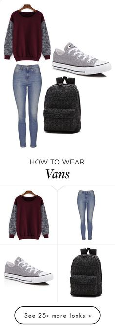 Untitled #1437 by cynthiamonica on Polyvore featuring Topshop, Converse, Vans, women's clothing, women's fashion, women, female, woman, misses and juniors