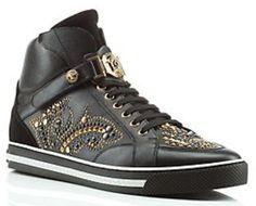 "Versace Hi Top Barocco ""Signature"" Sneakers. $1,395.00"