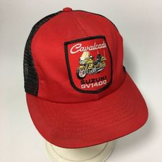 02c98ebf2fcd3 Details about VTG CAVALCADE SUZUKI GV1400 Motorcycle Hat Mesh SnapBack USA  Patch Cap Mens