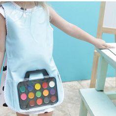 Tablier de peinture pour enfant avec accessoires Wednesday, Apron, Children, Accessories