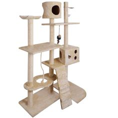 Cat Scratching Poles Post Furniture Tree 170cm Beige  #wevegotample #buyproductsnow #buyonline #ampled #shippedfromaustralia #buynow
