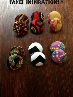 African Inspired Fabric Covered Button by TakeiInspirations, $7.00