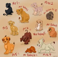 (top2bottom,L2R)Ravenpaw,Lionpaw, Pinkpaw,Mousekit,Patchpaw,Redpaw,Volekit, Hawkkit,Strongpaw,Flamekit, and Sandpaw!