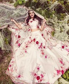 """label_rishasundriyal on Instagram: """"Order now  price or order  please dm or call and whtsapp on 8979677901  Follow @label_sanzkrit @label_sanzkriti Sanzkriti wedding…"""" Indian Bridal Outfits, Indian Designer Outfits, Bridal Dresses, Designer Bridal Lehenga, Bridal Lehenga Choli, Lehenga Suit, Indian Attire, Indian Ethnic Wear, Pakistani Dresses"""