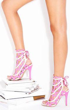 Pink Cutout Heels ♥ L.O.V.E. Shoe Dazzle!