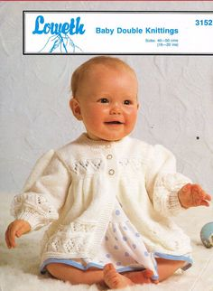 Loweth 3152  baby matinee coat  vintage knitting by Ellisadine, £1.00