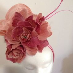 Double Pink BY ANNE GAMMON #millinery #hatacademy