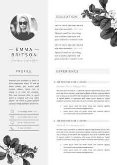 CV Template Cover par TheResumeBoutique