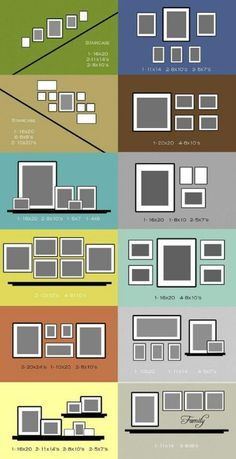 picture frame & art hanging ideas for reference