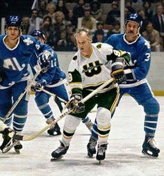 Gordie Howe and the New England Whalers vs. the Quebec Nordiques. Hockey Games, Hockey Players, Ice Hockey, Quebec Nordiques, Hartford Whalers, Vancouver Canucks, Detroit Red Wings, Nhl, Superstar