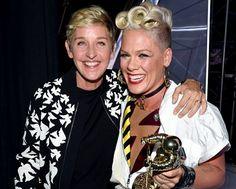 Ellen presents Video Vanguard Award to P!nk.