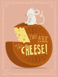 Mouse and cheese #illustration