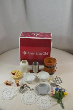 Addy's Ice Cream Set American Girl Accessories in Box for Addy Walker
