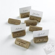 Cork place holders