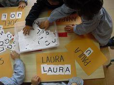 conèixer el nom propi a Preschool Names, Preschool Writing, Educational Activities, Classroom Activities, Learning Activities, Preschool Activities, Teaching Kids, Kids Learning, Petite Section
