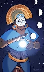 Mama Quilla was the Inca goddess of the moon and the defender of women. She was also an important goddess to the Inca calendar, which used both lunar and solar calculations Goddess Of The Sea, Moon Goddess, Ancient Goddesses, Gods And Goddesses, Sacred Feminine, Divine Feminine, Divine Mother, Archetypes, Mythical Creatures