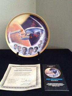 1983 Ernst Hamilton Star Trek USS Enterprise Porcelain Collectors Plate 4277T