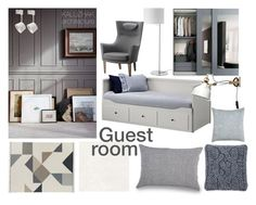 """""""GUEST ROOM _1I"""" by kalujak on Polyvore featuring interior, interiors, interior design, дом, home decor, interior decorating, Design Within Reach, UGG и Villa Home Collection"""