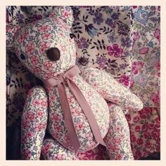 Liberty fabric bear by www.bubsbears.com