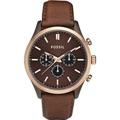 FOSSIL Walter Leather Watch - Brown:Amazon:Watches  Michael Christmas