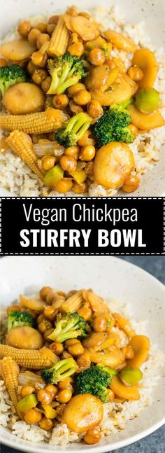 Vegan Chickpea Stirfry Bowl-- Very good and fairly easy. Definitely will make again.