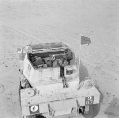 Daimler scout car of 5th Royal Tank Regiment, 4th Armoured Brigade in the Western Desert, 28 April 1942.