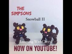 Rainbow Loom Simpsons character, Snowball the Simpsons Pet cat. Looming WithCheryl.  Now on YouTube! charms / figures / gomitas / gomas. Please Subscribe ❤️❤ m.youtube.com/user/LoomingWithCheryl