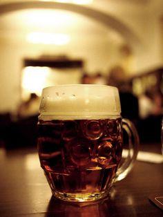 Pint of beer in Prague, Czech Republic. A honeymoon must! Honeymoon Planning, Honeymoon Ideas, Czech Beer, Pint Of Beer, Prague Czech Republic, Beer Tasting, Travel Europe, Activities, Mugs