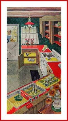 Rubbermaid 1950s Kitchen by DustyDiggerLise on Etsy