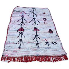 15 Off 87'x55 Moroccan Rug Handwoven From Scraps of Fabric... ($291) ❤ liked on Polyvore featuring home, rugs, floor & rugs, home & living, silver, recycled rugs, handmade area rugs, fabric rug, hand-loomed rug and hand made rugs