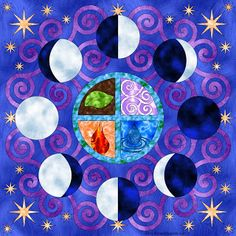 Don't Eat the Paste: Moon Phases Mandala