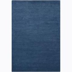 @Overstock.com - Hand-tufted Mandara Blue Floral Wool Rug (5' x 7'6) - This hand tufted wool rug was made in India. The subtle floral design is carved into the pile, giving this rug an interesting variation in texture. The deep, rich blue color and clean, simple lines will make an elegant statement in any home.   http://www.overstock.com/Home-Garden/Hand-tufted-Mandara-Blue-Floral-Wool-Rug-5-x-76/6345110/product.html?CID=214117 $170.99