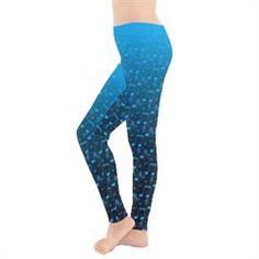 $23.99 Blue Notes Music Pattern Leggings #Saytoons