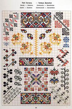 Ukrainian and Romanian embroidery of Bukovyna-Bucovina Medieval Embroidery, Palestinian Embroidery, Folk Embroidery, Cross Stitch Embroidery, Embroidery Patterns, Bargello Patterns, Fabric Patterns, Cross Stitch Designs, Cross Stitch Patterns