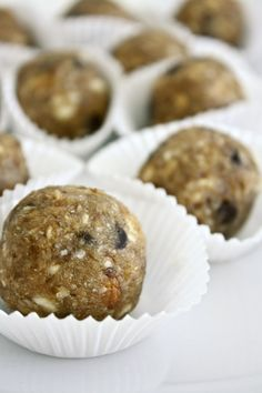Raw Bites - Dates, almonds, cashews, coconuts and chocolate chips.  These gluten-free, raw, vegan bite-sized treats provide healthy fats, natural sugars, and macronutrients that will satisfy your sweet tooth, give you a little burst of energy!