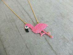 Flamingo taki..tugla işi..japon boncugu