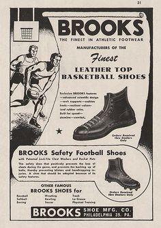 8 Vintage 1940s-60s BROOKS SPORTS CLEATS SHOES Print Ads - Hanover, PA | eBay