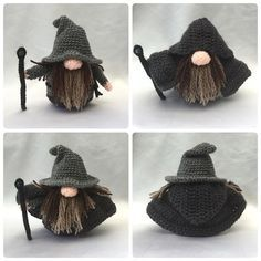 Wizard Gonk Free crochet patterns for outfits to fit Santa Gonk A Gonk's Journey