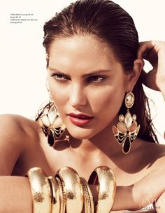 Catherine McNeil by Alexi Lubomirski for H&M Magazine Summer 2010 Editorial Shoot, Summer Editorial, Jewelry Editorial, Bold Jewelry, Chunky Jewelry, Vintage Jewelry, Catherine Mcneil, Fashion Accessories, Fashion Jewelry