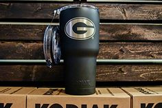 Georgia 30 oz NCAA Engraved Vacuum Insulated Tumbler Two Lids Kodiak Coolers - Stainless Steel Double Wall - Thermal Coffee Travel Cup Rambler Mug - Compare to Yeti