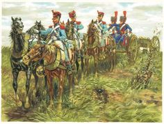 Train of the French Imperial Guard's artillery, by Giuseppe Rava.(http://www.g-rava.it/opere/era_napoleonica_eng.htm)